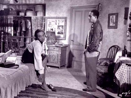 Gloria Madison y Richard Wright, como Bessie y Bigger Thomas