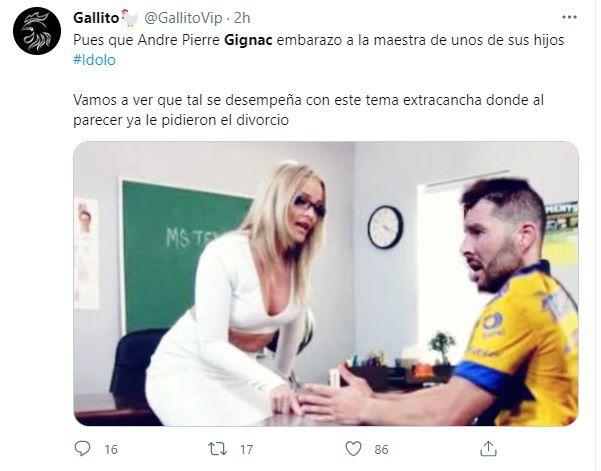 memes supuesta infidelidad de Gignac
