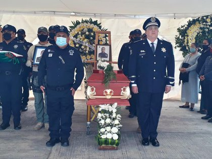 Two policemen died outside the Semefo de Orizaba and another in the hospital (Photo: SSP-Veracruz)