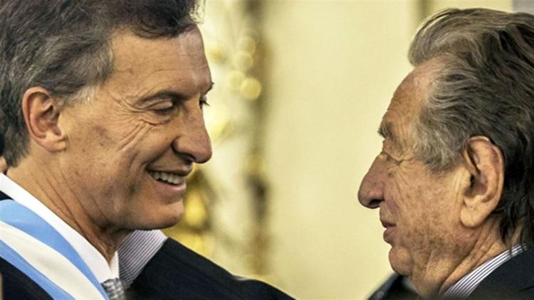 Franco Macri el día que su hijo asumió la presidencia (foto DyN)