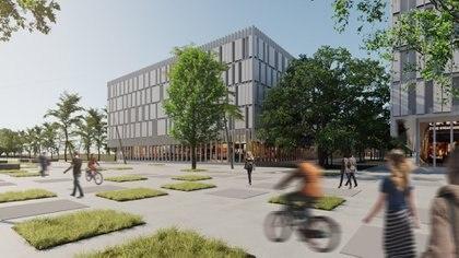 Render del proyecto del oficialismo porteño para construir edificios privados en tierras públicas