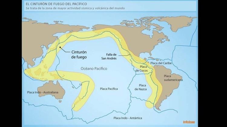 Mapa del día  las zonas del mundo con mayor actividad sísmica - Infobae b9ec5ef8d00a