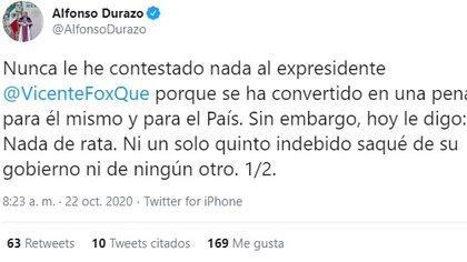 La respuesta de Durazo