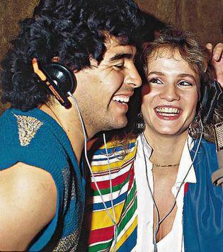Diego Maradona y Lucía Galán