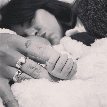 La tierna foto que subió Gianinna a Instagram.