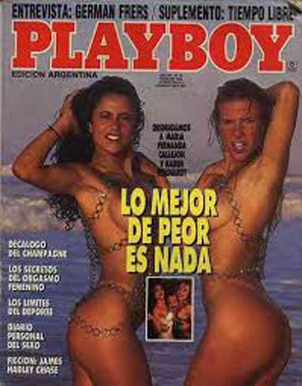La tapa de la revista Playboy en febrero de 1992