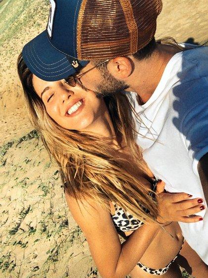 La romántica foto de Nico y Flor (Instagram)