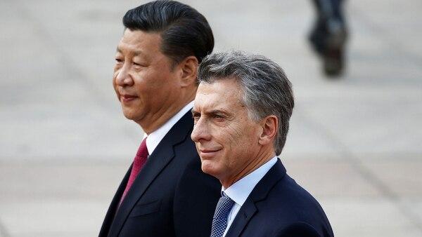 Mauricio Macri junto a Xi Jinping