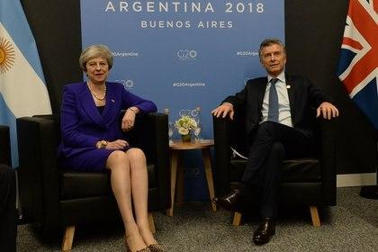 Ayer May y Macri dialogaron en Costa Salguero. (Presidencia)