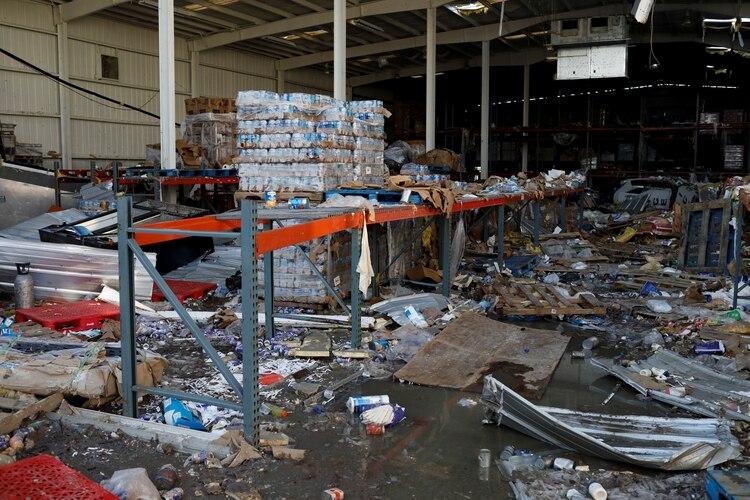 Un supermercado destruido por la tormenta (REUTERS/Marco Bello)