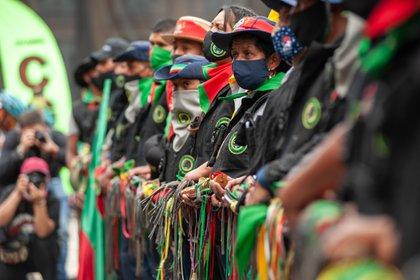 21/10/2020 Marcha indígena del pasado mes de octubre a su paso por Bogotá, Colombia. POLITICA SUDAMÉRICA COLOMBIA INTERNACIONAL LATINOAMÉRICA CHEPA BELTRAN / ZUMA PRESS / CONTACTOPHOTO