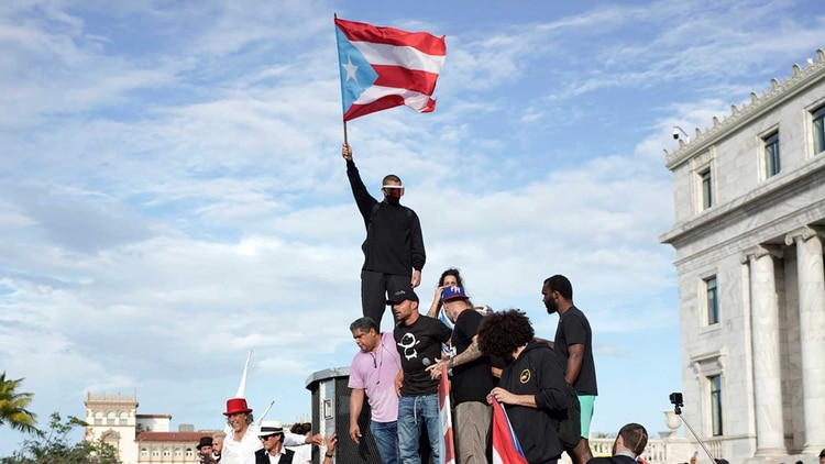 Manifestación en Puerto Rico pór la renuncia de Roselló (Archivo DEF)