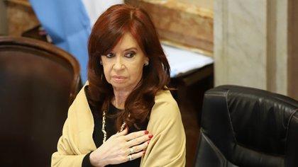 Cristina Kirchner durante la sesión del jueves (NA)