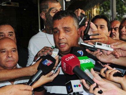 El secretario gremial de Camioneros, Marcelo Aparicio