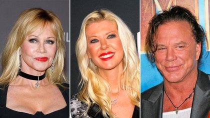 Melanie Griffith, Tara Reid y Mickey Rourke lamentaron algunas cirugías
