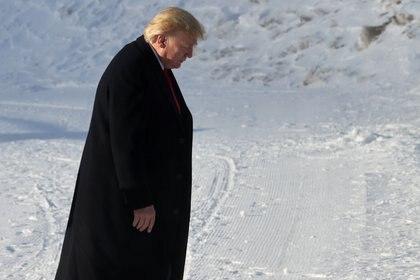 La llegada de Donald Trump al foro de Davos (REUTERS/Jonathan Ernst)