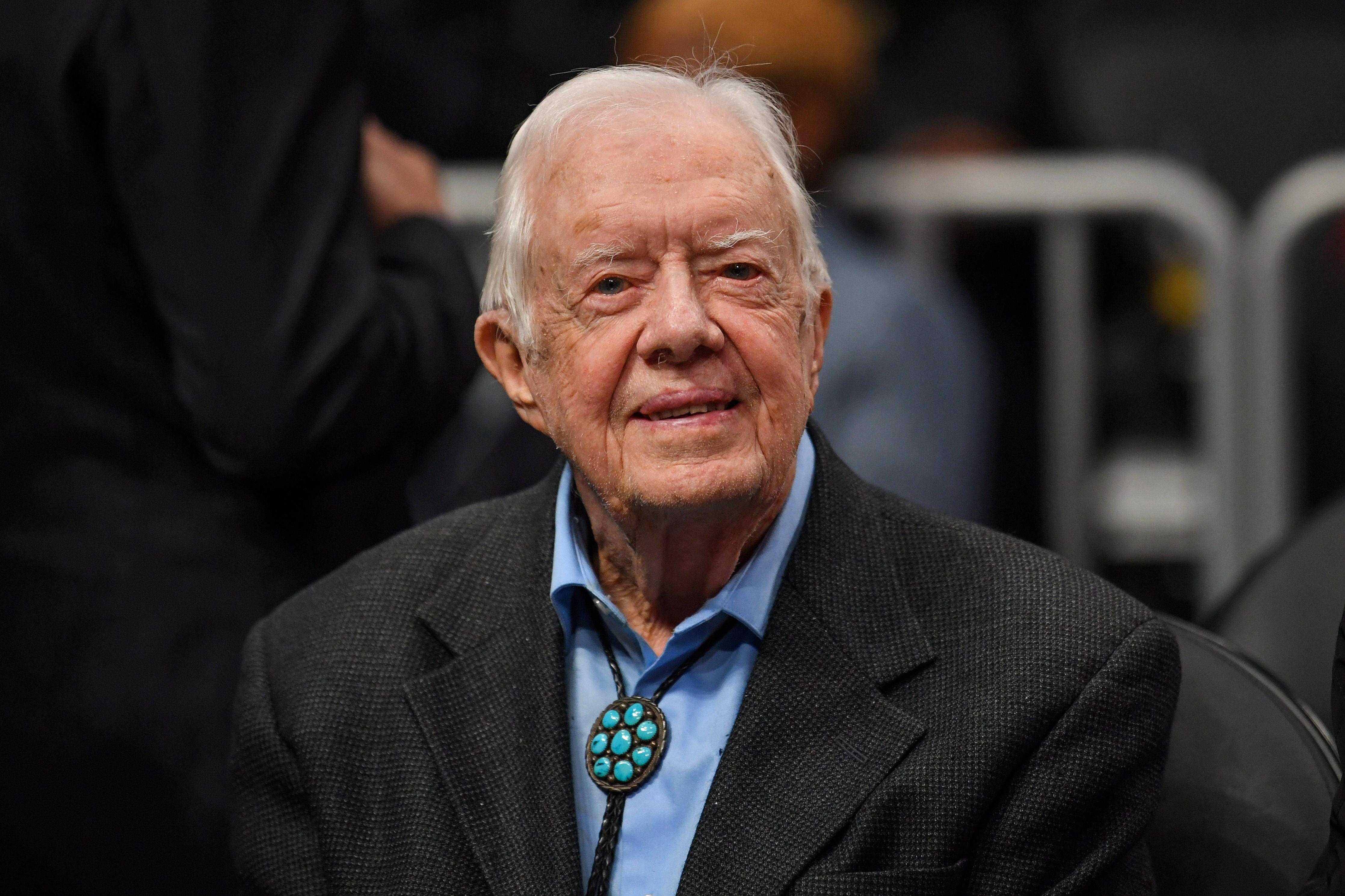 Jimmy Carter en febrero de 2019 (Dale Zanine-USA TODAY Sports/archivo)