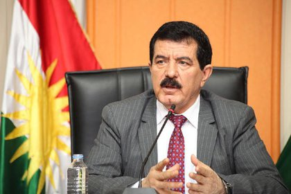 El vicepresidente kurdo Kosrat Rasul
