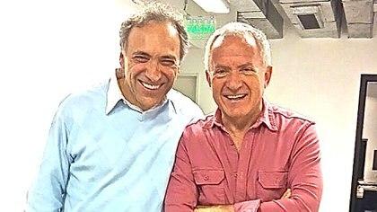 Con Omar Romay, hijo de Alejandro Romay