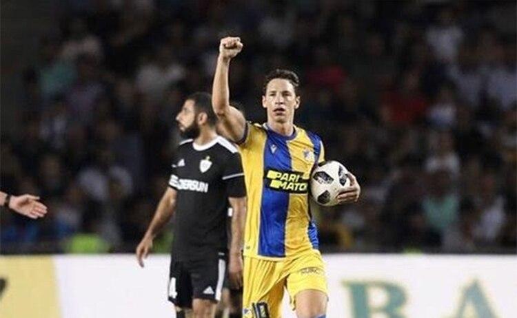 Tomás De Vincenti es una de las principales figuras del APOEL de Chipre (@tomasdevi)