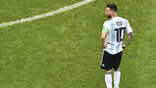 Lionel Messi, durante el Mundial de Rusia 2018(AFP)