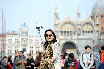 La plaza San Marcos en Venecia, en abril de 2019 (Reuters)