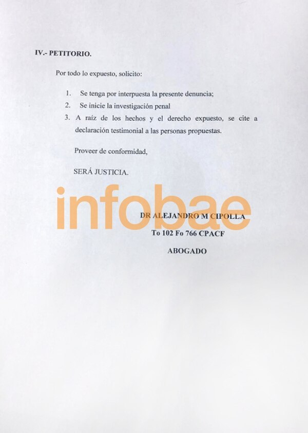 La denuncia de Cipolla contra Claudio Caniggia