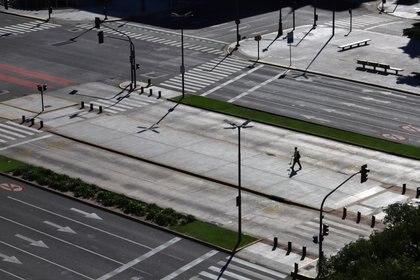 Buenos Aires en cuarentena. REUTERS/Matias Baglietto
