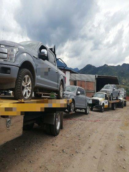 """José """"A"""" y Juan """"A"""" se encontraban cerca del rancho conocido como """"El Capricho"""", mientras que agentes de la Guardia Nacional realizaban un recorrido de prevención por el camino de terracería (Foto: FGR)"""