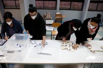 El recuento de votos en Valparaiso,