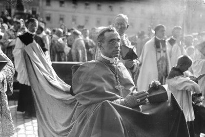 Nuncio Pacelli en julio de 1924 en el 900 aniversario de la ciudad de Bamberg