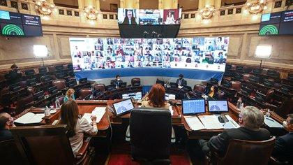 La sesión del Senado en el que se rechazaron los traslados (Foto: Charly Diaz Azcue / COMUNICACIÓN SENADO)