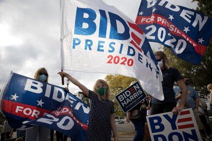 Simpatizantes de Joe Biden en Ohio (Reuters)