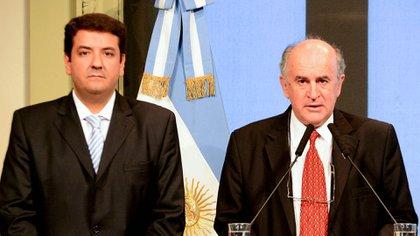 Juan Martín Mena y Oscar Parrilli