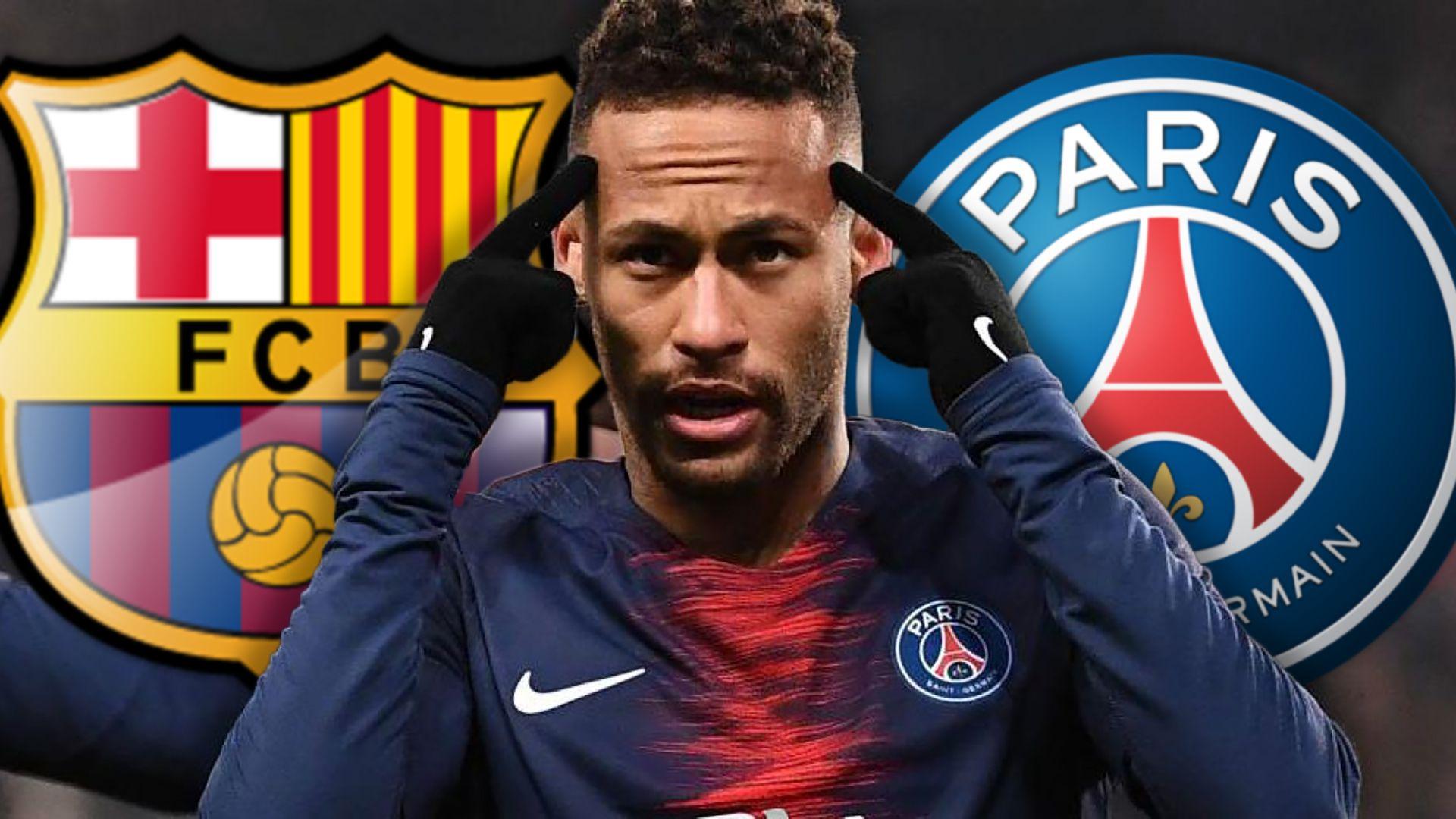 Neymar, entre el Barcelona y el PSG