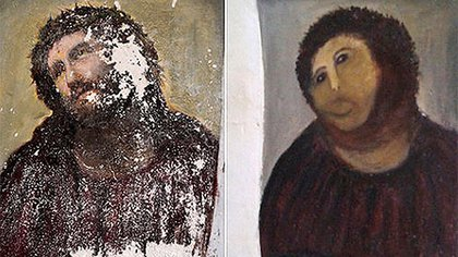 El Ecce Homo de Borja, antes y después