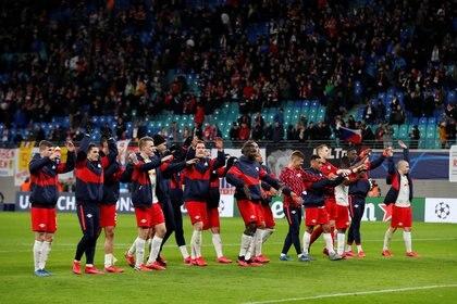El RB Leipzig venció 2 a 1 al Atlético Madrid en los cuartos de final de la UEFA Champions League (Reuters)