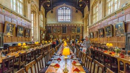 El comedor de Christ Church en Oxford fue la inspiración para el Gran Salón de Hogwarts