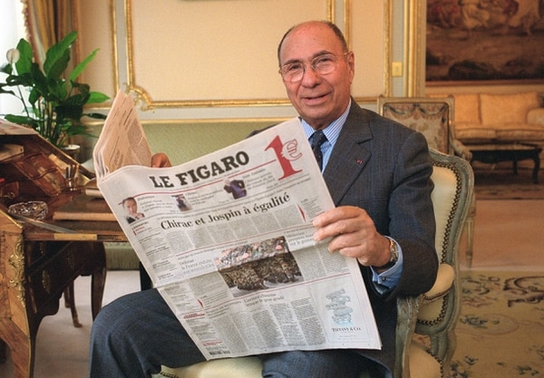 Dassault era también dueño del periódico Le Figaro (AFP)