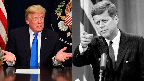 Donald Trump desclasificó el jueves unos 3 mil documentos sobre el asesinato de John Kennedy pero decidió preservar la reserva sobre otros 300 (AFP)