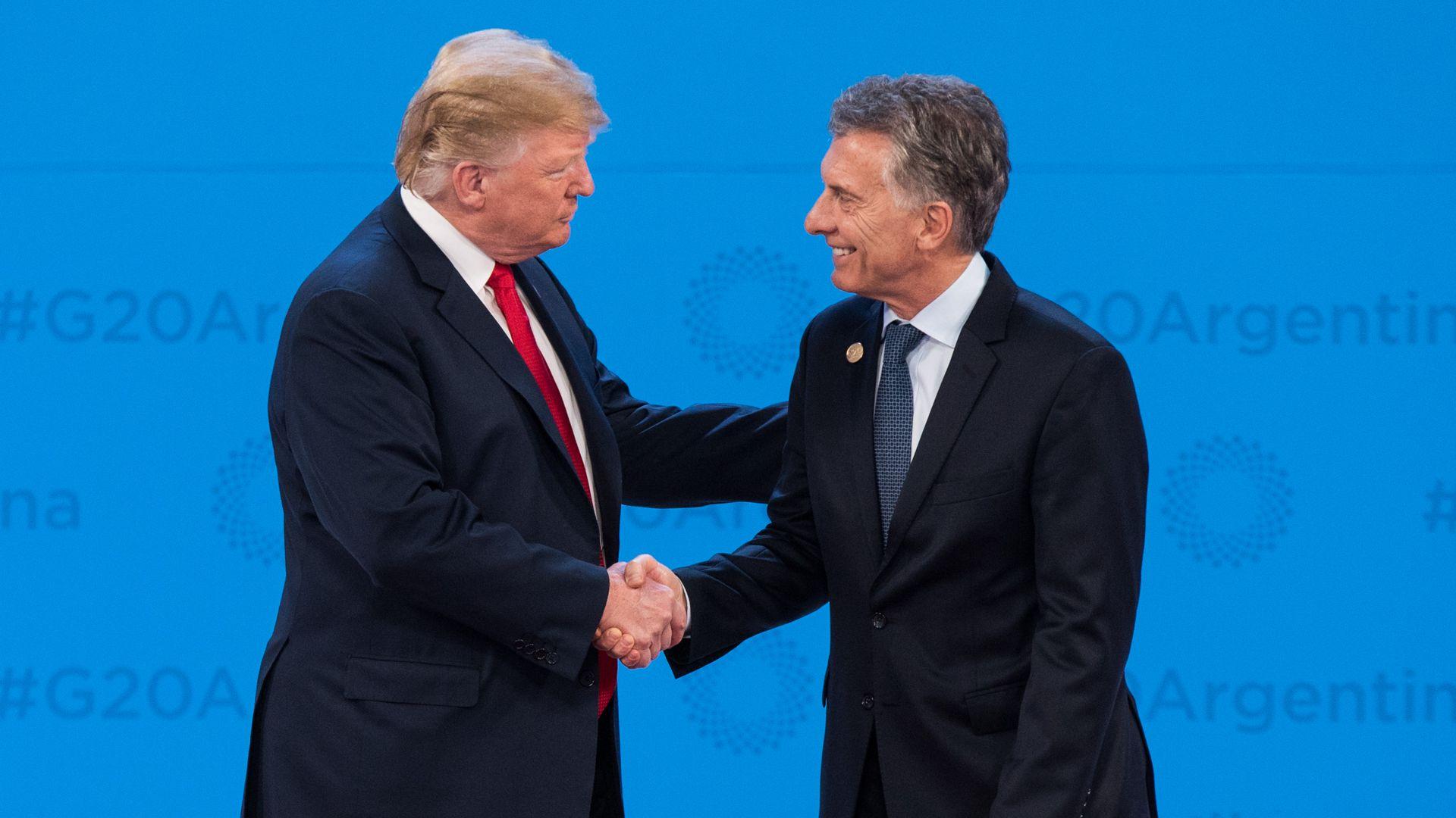 Donald Trump y Mauricio Macri durante el G20 (Foto: Manuel Cortina)