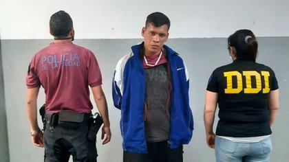 Pereyra tras su detención.
