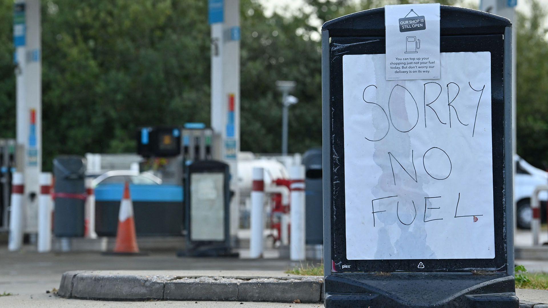desabastecimiento de combustible en reino unido