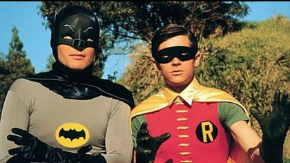 Adam West y Burt Ward, como Batman y Robin