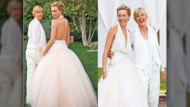 vestidos de novia lejos del blanco: las famosas que se animaron a un