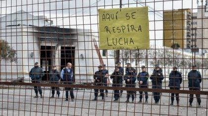 Así amaneció la Casa de Gobierno el jueves (Aníbal Aguaisol)