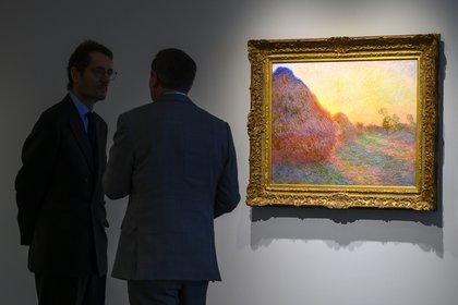 """""""Meules"""" de Claude Moent expuesto en Sotheby's (Don Emmert / AFP)"""