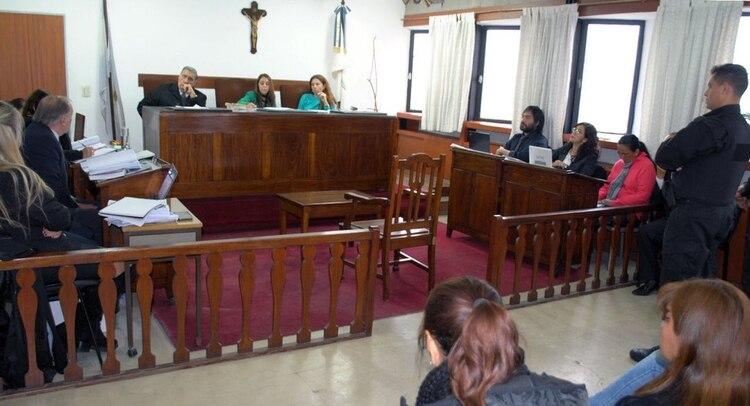 Milagro Sala durante el juicio (Sabrina Roth)