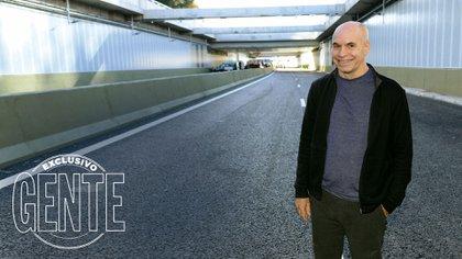 Horacio Rodríguez Larreta en el Paseo del Bajo. Foto: Julio César Ruiz/GENTE