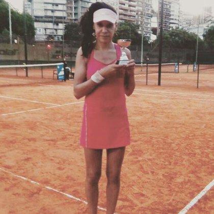 Mía es la número tres de argentina en el ranking femenino senior (instagram: @miafedra)